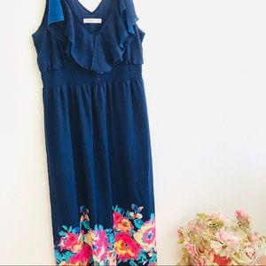 Old navy ruffle tank floral long summer dress